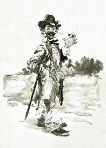 300px-Tramp_smoking_cigar_with_cane_over_arm_-_restoration